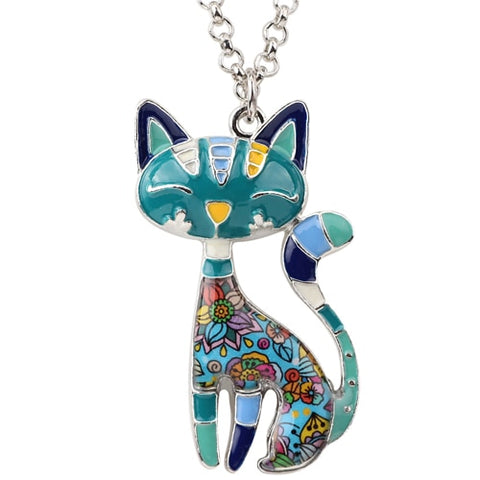 Cute Kitten Necklace Pendant With Chain