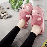 Winter New Women Slippers Cute little Pig