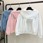 Sweet Rabbit Ears Hooded Sweatshirt - petsareawsm
