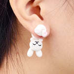 Handmade Bunny Stud Earrings - petsareawsm