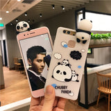 3D Cute Baby Panda Phone Case For Huawei P9 P10 Soft Silicone