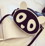 Cute Leather Panda Handbag