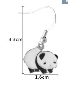 Cute Panda Hanging Earrings
