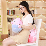 23/35cm Kawaii Fat Pink Pig Plush Pillow