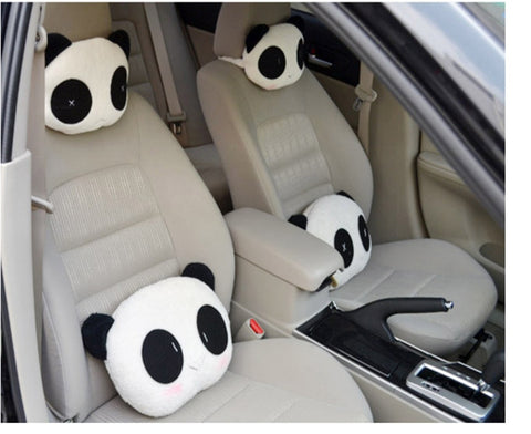 Panda Car Headrest and Pillows