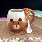 Hand Painted Cute Animal Mug