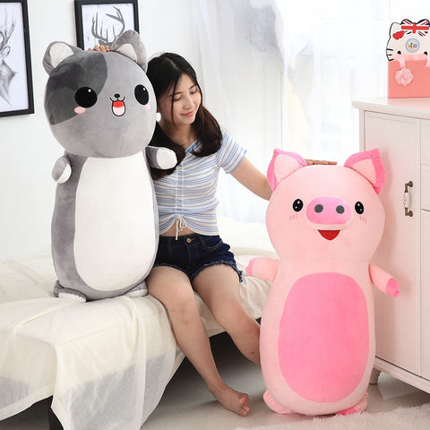60/85cm Plush Animal Pillow Toys