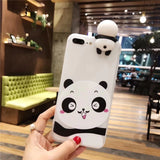 3D Cute Panda Phone Cases For iphone 7  6s 6 8 7 plus X