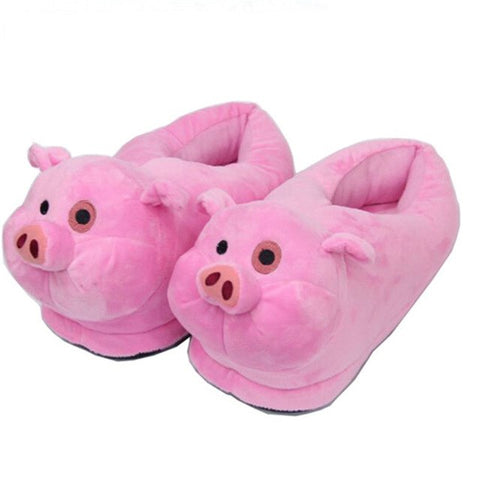Pink Pig Animal Prints Cotton Home Slippers