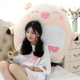 Cartoon expression pig figurine cute cute pink pig plush toy