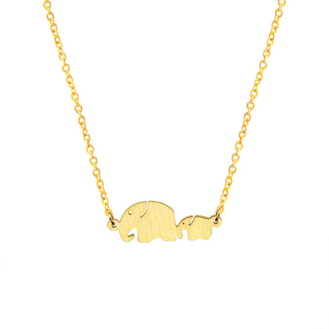 Elephant Shape Pendant Necklace