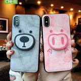 Bear Piggy Case for iPhone6S/6SPlus /7/8Plus/X/XS/XR/XS MAX mobile phone case