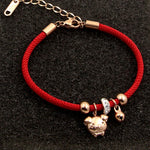 Rose Gold Color Pig Charm Bracelet