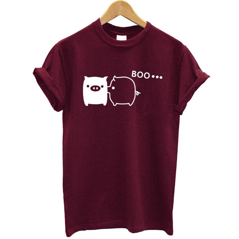 Couple Pig Short Sleeve T Shirt Women