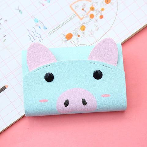 Cute Leather Business Card Holder Women