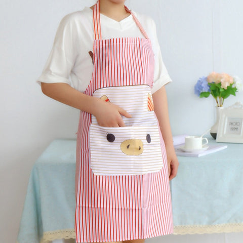 Cute Pig Kitchen Waterproof Apron