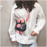 Cute Pig Design Mini Crossbody Messenger Bag