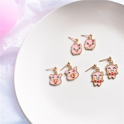 Cute Pig Drop Earrings