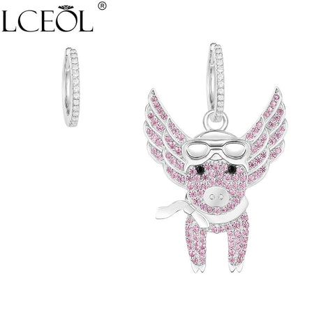 Delicate Pig Zirconia Drop Earrings