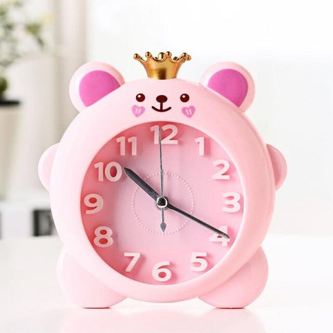 Cute Crown Pig Desk Alarm Clock