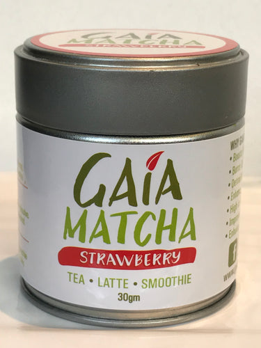 Premium Organic Fruit Flavoured Matcha 30g with display tin