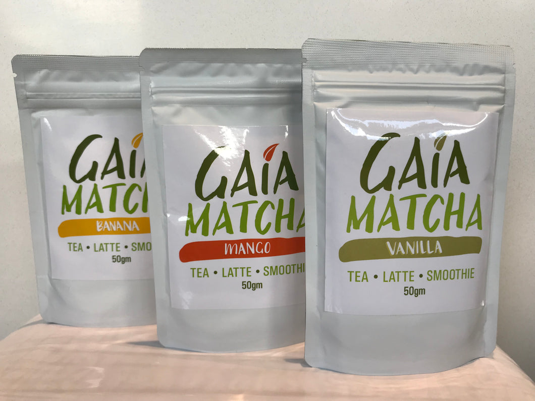 Premium Organic Fruit Flavoured Matcha Collection 50g
