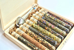 Tea Sampler Gift Set, 10 Test Tubes of Loose Leaf