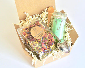 Mint Tea Gift Set with Peppermint Floral Tea