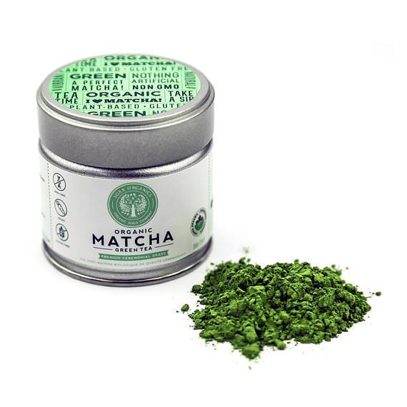 Organic Raw Matcha - Premium Ceremonial - 30g Can