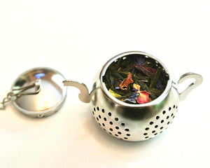 Tea Infuser with Hamsa Hand Charm, Yoga