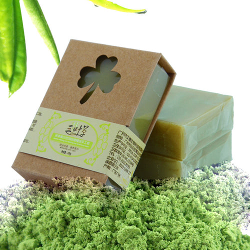 100g Organic Handmade Matcha Green Tea Powder Soap Whitening Moisturizing Cleansing Soap Remove Acne Cleansing Bath Bar Soap