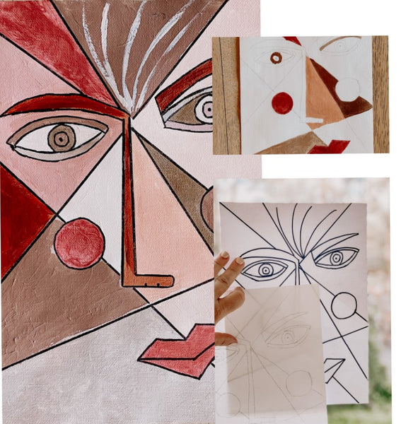 Creative Kids are inspired by Picasso to create these artworks montage