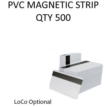 PVC Magnetic Stripe HiCo (Black Stripe)