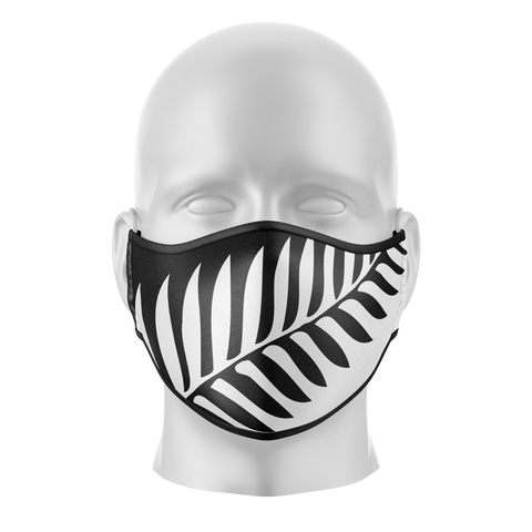 NZ Large Fern Reusable Face Mask - Kids/Adults