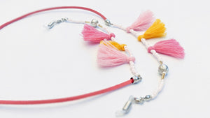 Sadie Pink and Yellow Tassels Sunglasses Chain