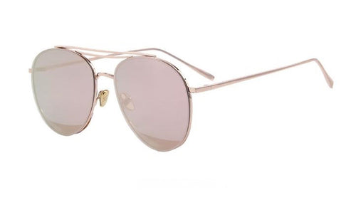 Miles Rose Mirrored Aviator Sunglasses