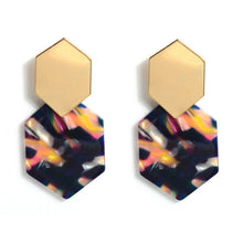 Grace Geometric Tortoise Shell Earrings