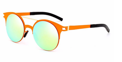 Clarence Matte Round Sunglasses