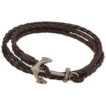 Bay Braided Anchor Wrap Bracelet