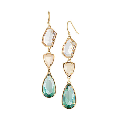 Dainty Wedding Glass Drop Earrings