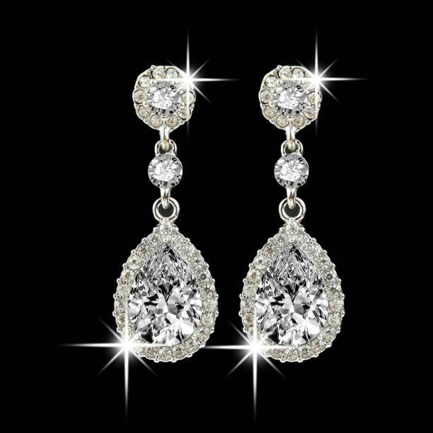 Rhinestone Style Wedding Earrings