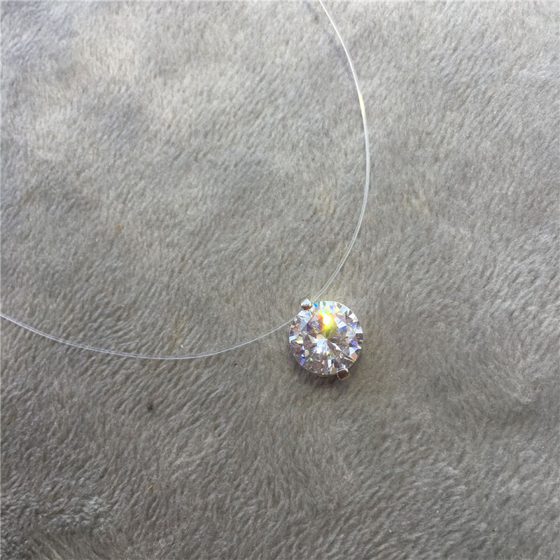 Invisible Fish Line Crystal Necklace