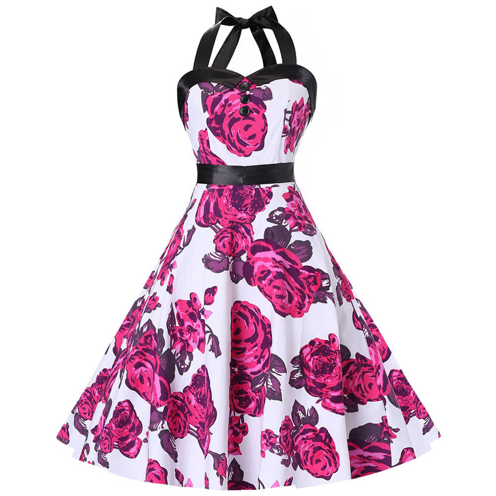 A Hot Sell,  Floral 60's retro Dress