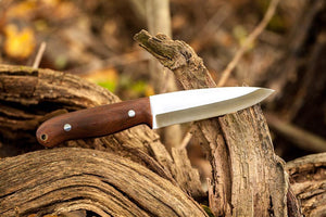 Bruder Woodsman Bushcraft Knife - Brown Micarta