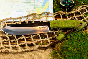 Brüder Brute Camp Knife- Olive Green - 5160 Steel