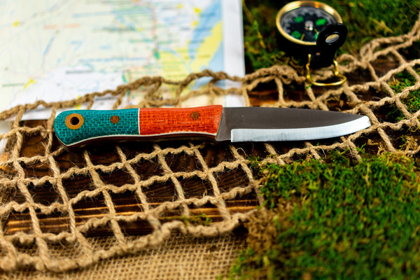 Brüder Alger Bushcraft Knife - Orange/Blue