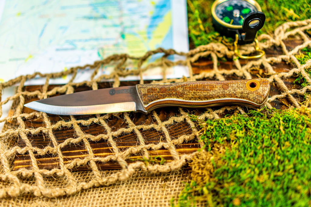 Brüder Alger Bushcraft Knife - Natural/Rust Burlap