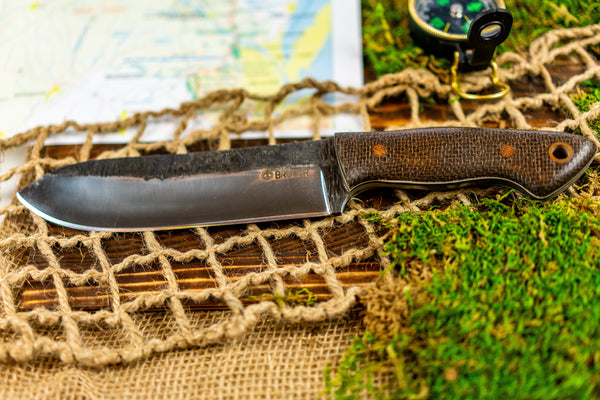 Brüder Brute Camp Knife- Brown - 5160 Steel