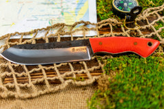 Brüder Brute Camp Knife- Coral Orange - 5160 Steel