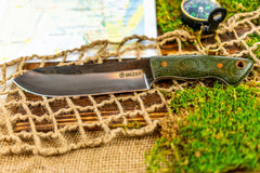 Brüder Brute Camp Knife- OD Green - 5160 Steel